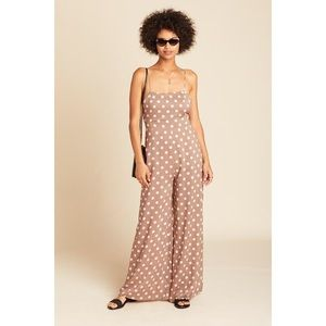 Wide Leg Polka Dot Jumpsuit